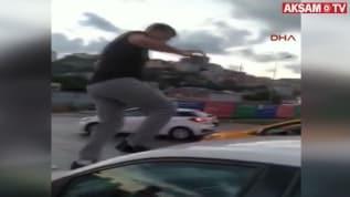 Alibeyköy'de trafik magandası kadına saldırdı!