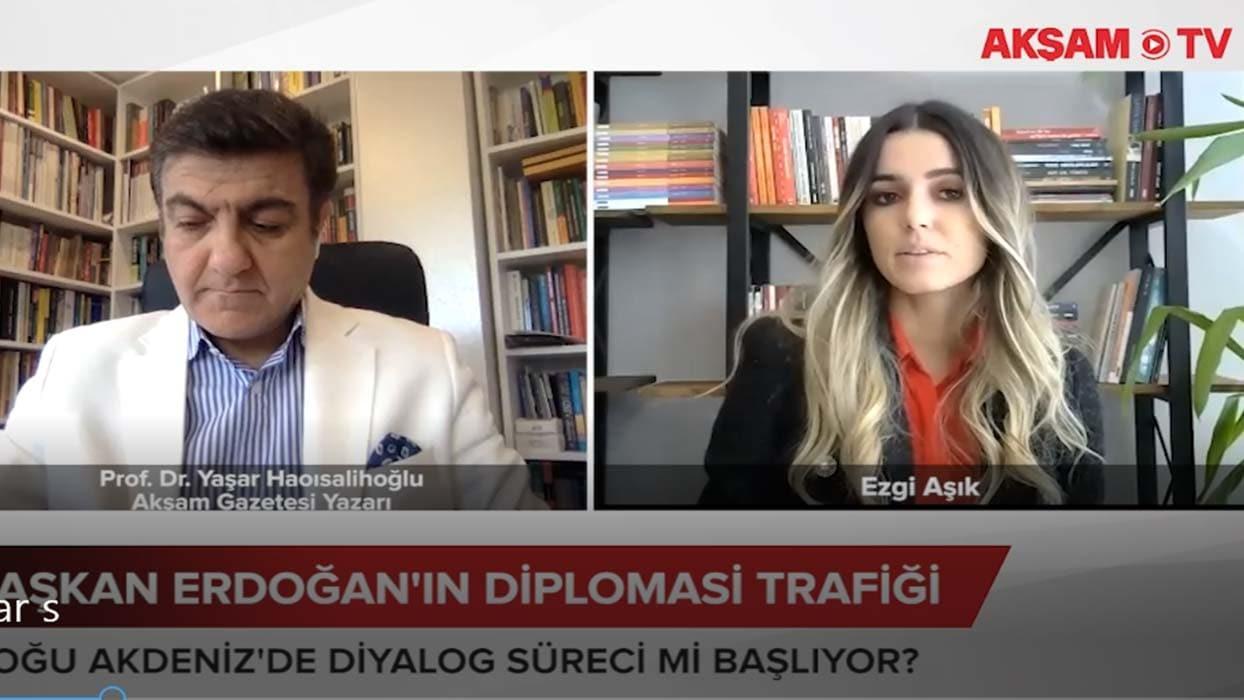 <p>Peki, yoğun diplomasi trafiğinde Doğu Akdeniz'de neler yaşanır? Akşam Gazetesi Yazarı Prof. Dr. Y