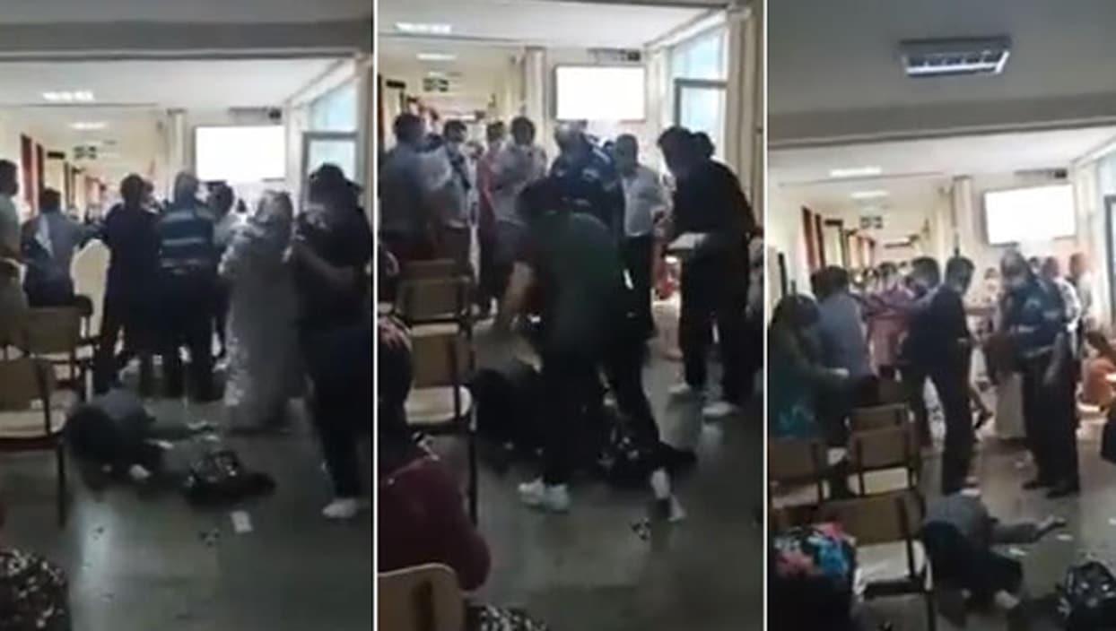 <p>İstanbul Çapa Tıp Fakültesi Hastanesi'nde çalışan hasta bakıcı sağlık çalışanı, bir kişiyi maske
