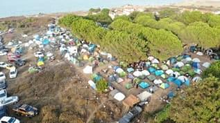 Şile'de kamp kuran 2 bin genç maske ve mesafeyi hiçe saydı