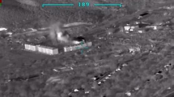 Yeni görüntüler ortaya çıktı: Azerbaycan Ermenistan'ın mühimmat deposunu vurdu