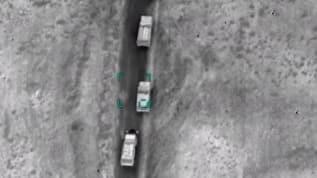 Azerbaycan ordusu, işgalci Ermenistan askeri konvoyunu havadan vurdu