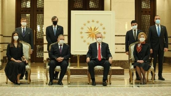 Başkan Erdoğan, İspanya Büyükelçisi Garnica'ı Külliye'de kabul etti
