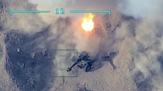 Azerbaycan Hava Kuvvetleri, işgalci Ermenistan güçlerinin tank ve sığınaklarını imha etti