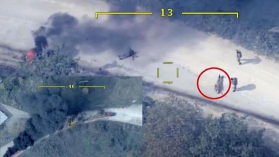 Harutyunyan'ın içinde olduğu belirtilen aracın vurulma anı