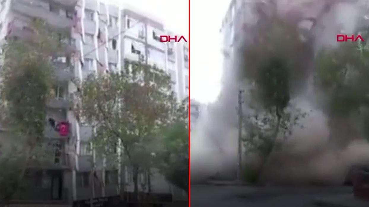 <p>İzmir'de meydana gelen 6.6 büyüklüğündeki şiddetli depremden yeni görüntüler gelmeye devam ediyor