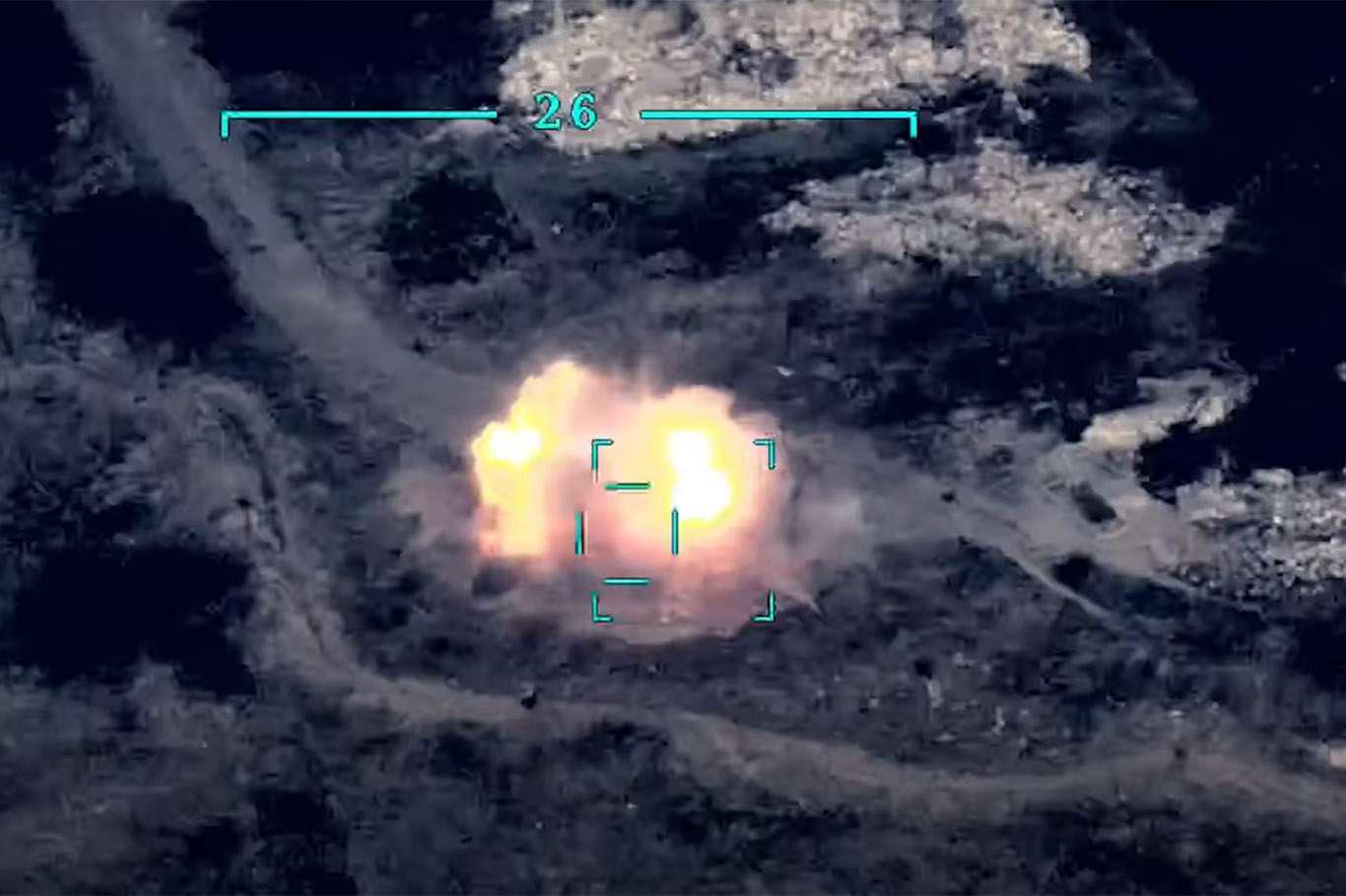 <p></p><p><span>Azerbaycan Savunma Bakanlığının paylaştığı görüntülerde, Smerç sistemlerinin füzeler