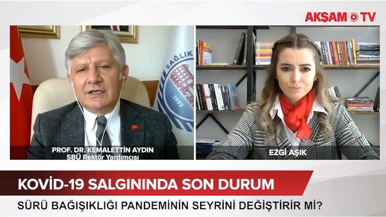 <p>Kovid-19 aşısı için gönüllü olan Sağlık Bilimleri  Üniversitesi Rektör Yardımcısı Prof. Dr. Kemal