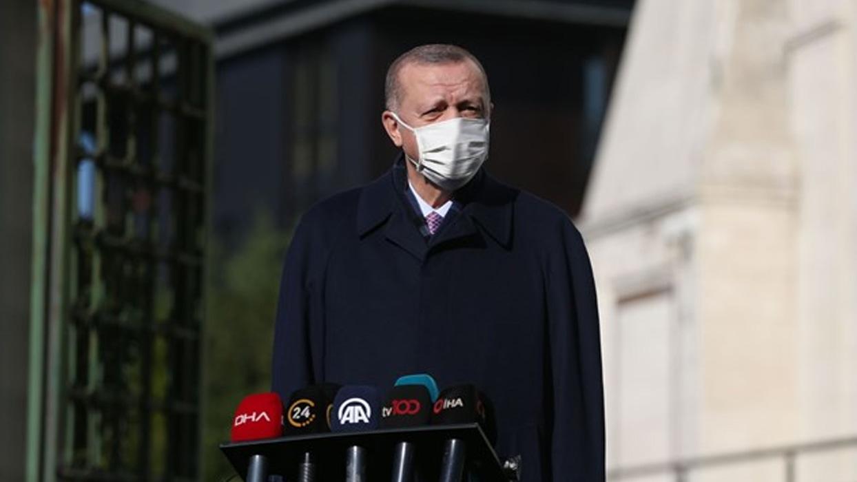 <h3>Başkan Erdoğan'dan Kovid-19'la mücadelede yeni açıklama</h3><h3>'YENİ TEDBİRLER YOLDA'</h3><p>Ba