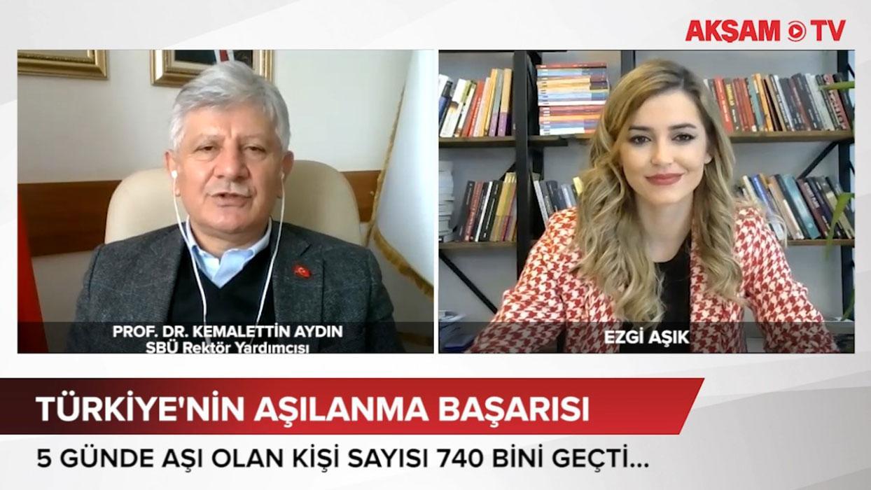 <p>Türkiye'nin aşı altyapısının dünyaya örnek olduğunu söyleyen Prof. Dr. Kemalettin Aydın, aşılaman