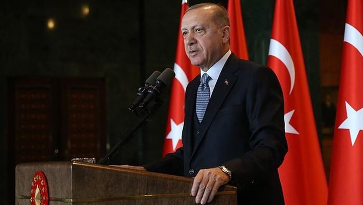 <p>Başkan Recep Tayyip Erdoğan, 'Holokost, Bosna, Ruanda, Kamboçya gibi trajedilerin tekerrür etmeme