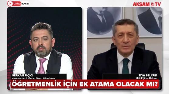 Bakan Ziya Selçuk AKŞAM TV'ye konuk oldu