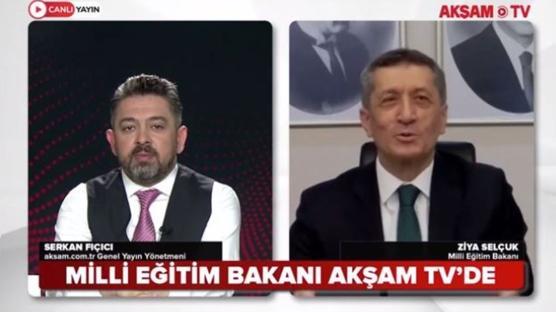 Milli Eğitim Bakanı Akşam TV'de... Serkan Fıçıcı'nın soruları yanıtladı