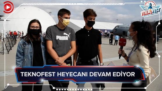 Gençler TeknoFest'e yoğun ilgi gösterdi