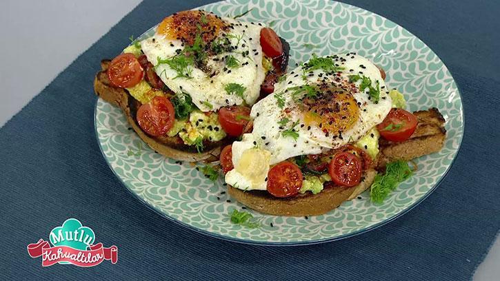 Avokadolu Ispanaklı Yumurta Tarifi #MutluKahvaltılar