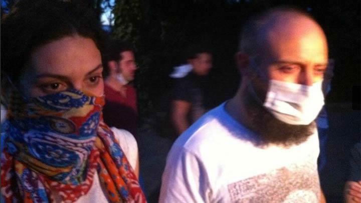 Bergüzar Korel ve Halit Ergenç de Taksim Gezi Parkı'nda