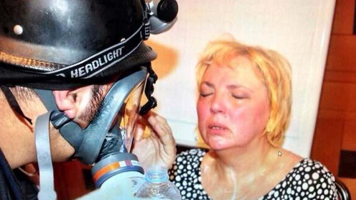 Alman siyasetçi Claudia Roth gazdan etkilendi