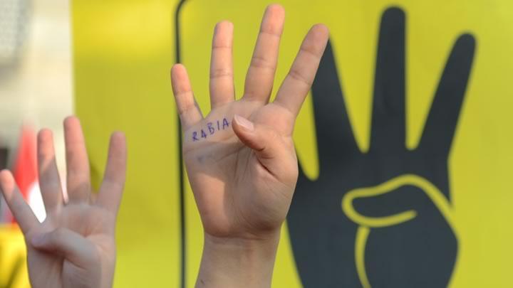 """'4' Rabia işareti nedir"""" İşte Rabia işaretinin anlamı!"""