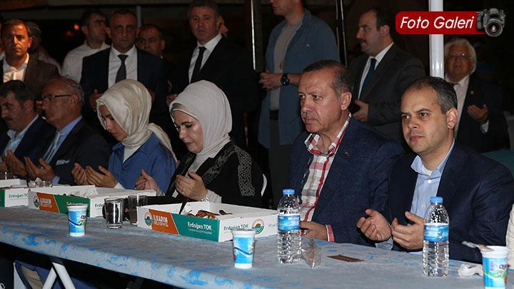Başbakan Samsun'da halkla iftar yaptı