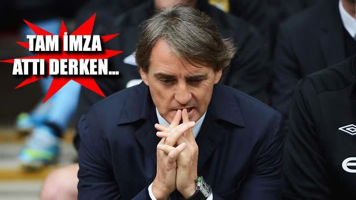 Mancini'ye büyük şok!