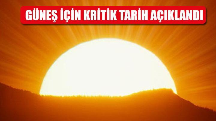 Güneş için kritik tarih: 2050