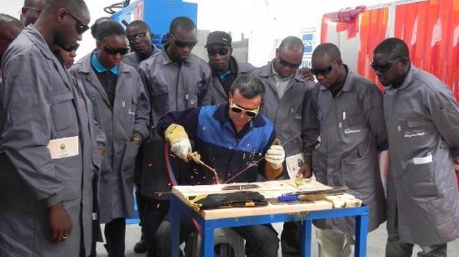 Nijeryalı gençlere Eskişehir'de kaynakçılık eğitimi