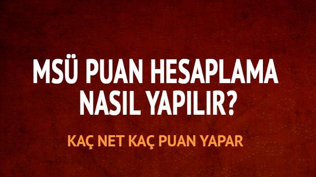 "Milli Savunma Üniversitesi sınavında kaç net kaç puan"""