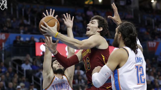 Cedi Osman'ın 'double double' yaptığı maçta Cleveland Cavaliers, Oklahoma City'ye boyun eğdi
