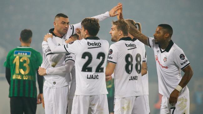 Beşiktaş deplasmanda Akhisarspor'u 3-1 mağlup etti