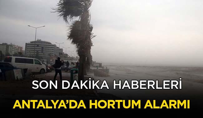 Antalya Havalimanı'nda hortum alarmı!
