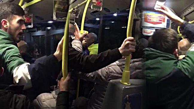Fenerbahçe-Yeni Malatyaspor maçı sonrası metrobüste her iki takım taraftarları birbirine girdi