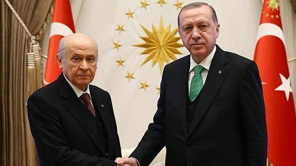 Başkan Erdoğan, MHP lideri Bahçeli görüşmesi sona erdi