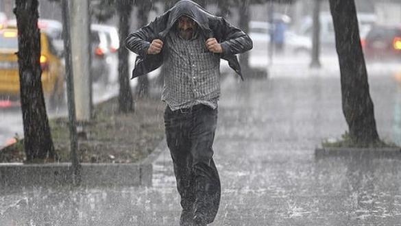 Bazı bölgeler için yağış uyarısı