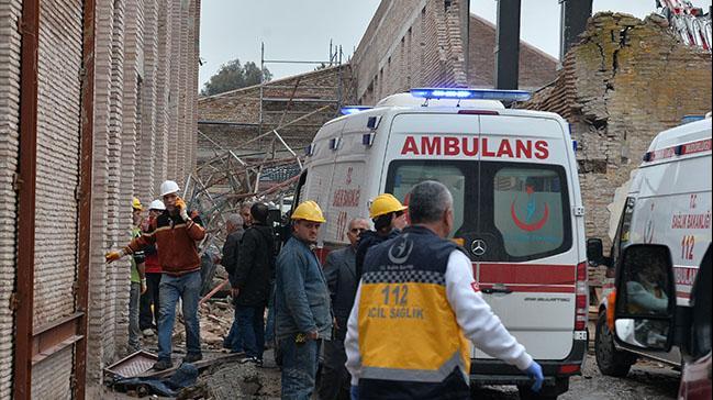 Müze inşaatında iskele çöktü: 1 işçi öldü, 7 işçi yaralı