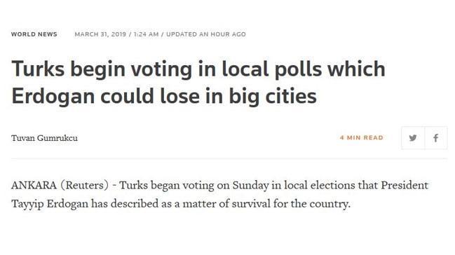 Reuters'tan büyük skandal: Seçim haberini bakın nasıl verdiler