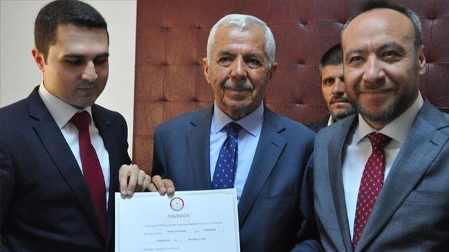 Keskin Belediye Başkanı Yıldırım mazbatasını aldı