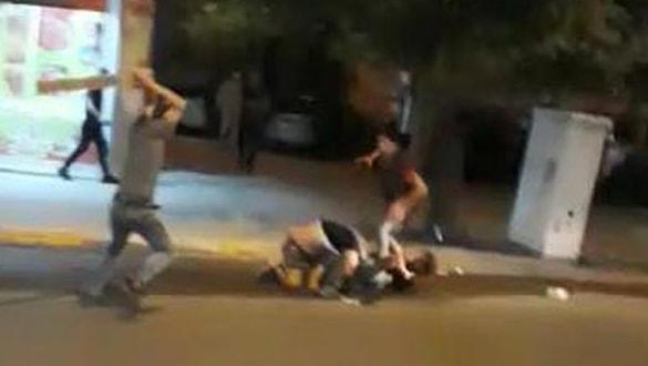 Suriyeli iki aile arasında çıkan kavga kameralarda