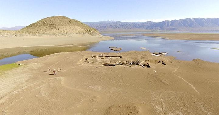 Sular çekildi, Hun kalıntıları ortaya çıktı...