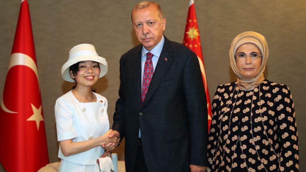 Başkan Erdoğan Altes Prensesi Akiko ile görüşme gerçekleştirdi