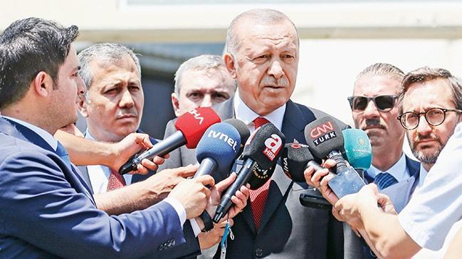Başkan Erdoğan: Bizden ayrılan hep tarih oldu