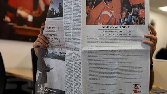 ABD medyasında dikkat çeken '15 Temmuz' ilanı