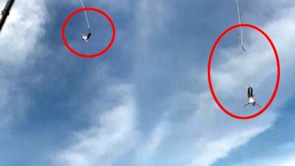 Bungee Jumping yaparken 92 metreden kafa üstü yere çakıldı