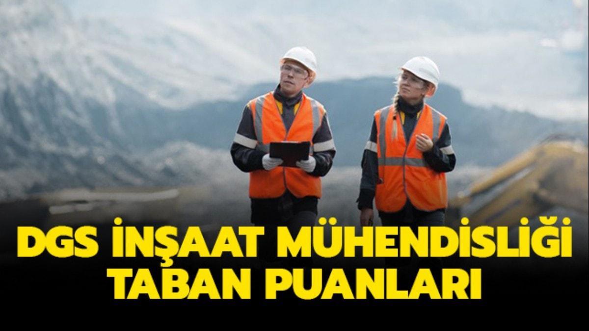 """DGS inşaat mühendisliği sıralama: DGS 2019 inşaat mühendisliği taban puanları açıklandı mı"""""""