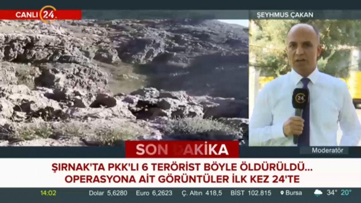 Şırnak'ta 6 teröristin öldürülme anı ilk kez yayınlandı
