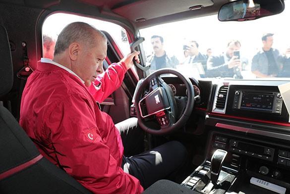 Başkan Erdoğan kullandı! Yerli pikabın ismi belli oldu