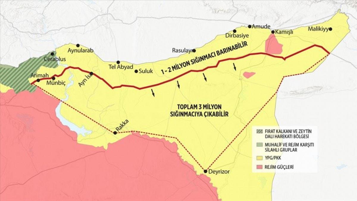 Başkan Erdoğan BM'de önermişti! İşte 3 milyon Suriyeli için güvenli bölge