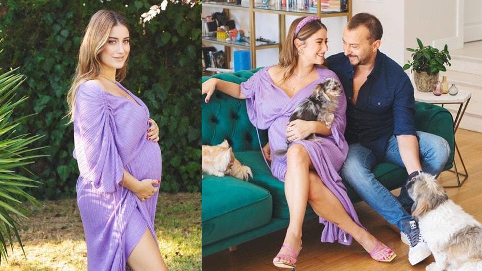 Geri sayım başladı! İşte 8 aylık hamile Hazal Kaya'nın son hali...