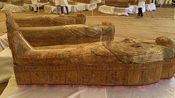 Mısır'daki Asasif gömütünde çok iyi korunmuş 30 tabut bulundu