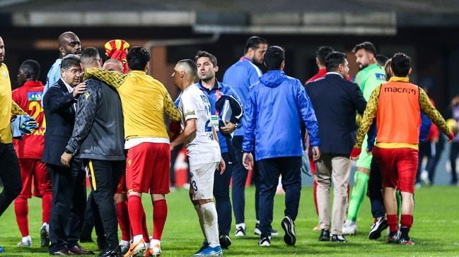 Kasımpaşa-Yeni Malatyaspor maçında arbede çıktı