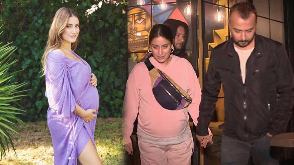 8 aylık hamile Hazal Kaya'nın panik anları! Evlerinde yangın çıktı!